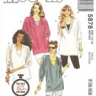 McCall's Pattern 5878 - UNCUT - Size Medium (14,16) - Misses Tunics and Tank tops