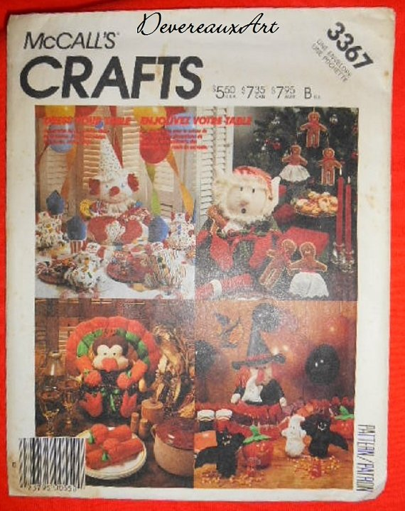 "McCall's ""Craft"" Pattern 3367 - UNCUT - Dress Your Table - Holiday Table Accessory Package"