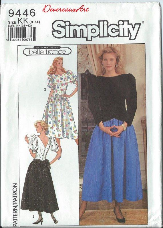 Simplicity Pattern 9446 - UNCUT - Size KK (8,10,12,14) - Misses'/Miss Petite Dress In Two Lengths