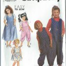 Simplicity Pattern 7184 -UNCUT- Size A( 7-8-10-12-14) Girls' Jumpsuit and Jumper or Sundress