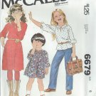 """1979 - McCall's """"Carefree"""" Pattern 6679 - UNCUT - Size 6 - Children's and Girl's Dress or Top"""