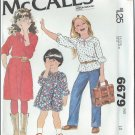"1979 - McCall's ""Carefree"" Pattern 6679 - UNCUT - Size 10 - Children's and Girl's Dress or Top"