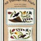 "All Through the Night-Folk Art design ""May Day - 703""   UNCUT - Penny Rug and Pillow"