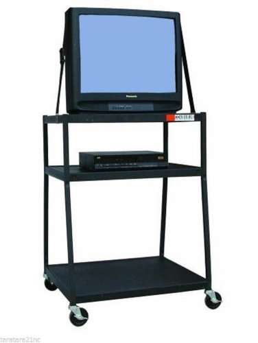 Buhl Wide-Body AV Media Cart w/ Electric Power Surge Protection 25' Cord WC44E-5