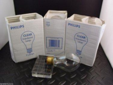 Lot of 2 Philips 116A21/TS Traffic Signal Lamp Bulbs 116 Watt 120 Volt Clear New