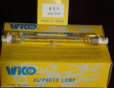 QTY 4 Wiko EHM 300W 120V BULB EHM 300W HALOGEN LAMP Osram SSTV Q300T3/CL