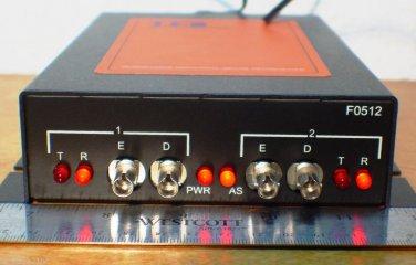Traffic Fiber Systems Fiber Optic Modem TFS FO512  Signal Light Control Good