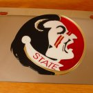Florida State Seminoles Stainless Vanity License Plate Heavy Guage Mirror Finish