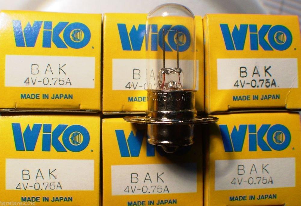 Qty 6 WIKO BAK  4 Volt .75 Amp  AV Photo Projector Bulb Lot of 6