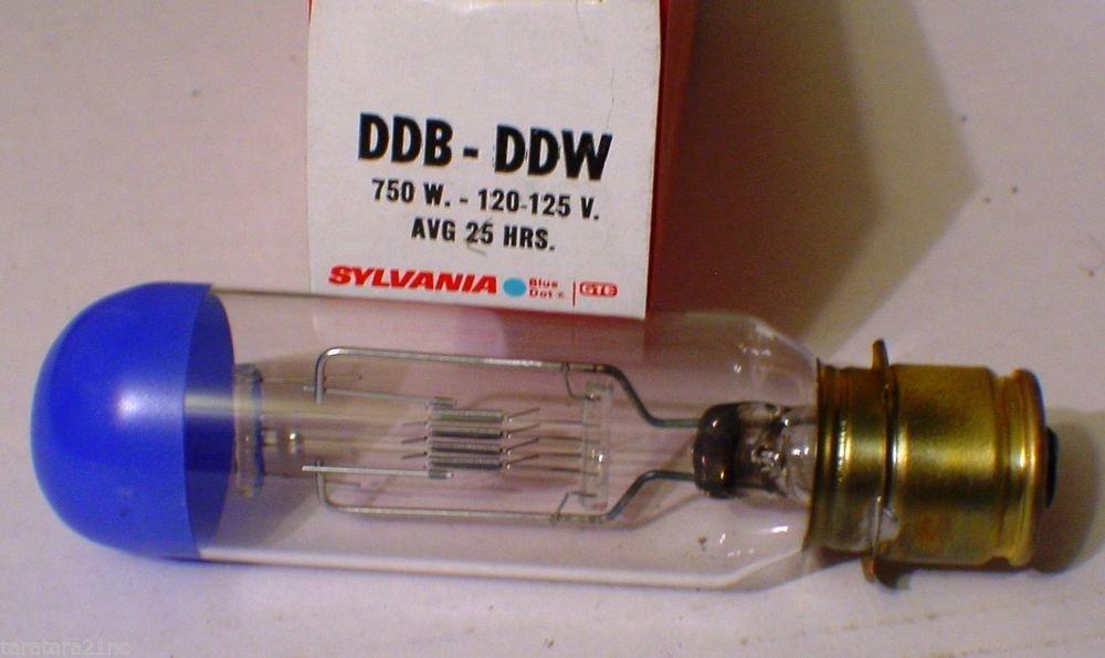 QTY 2 Sylvania DDB DDW 750 Watt 120-125 Volt AV Photo Projector Bulb Lot of 2