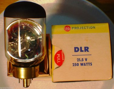 DLR DKM GE 250 Watt 21.5 Volt AV Photo Projector Bulb / Lamp Lot of 1