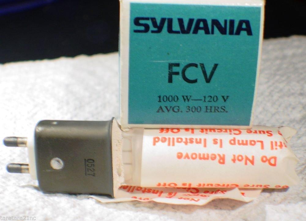 Qty 4 Sylvania FCV 1000 watt  120 volt   AV Photo Projector Bulb Lot of 4 Lamps