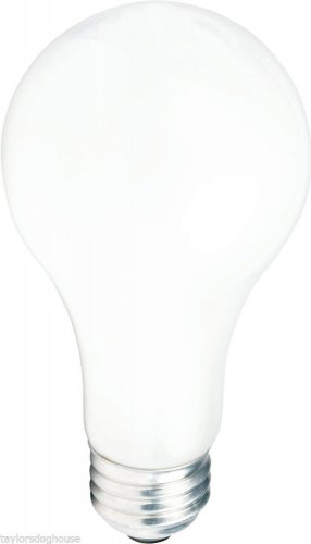 Case of 60 Philips 200A 130V 200 Watt Light Bulb A23 Frost Incandescent