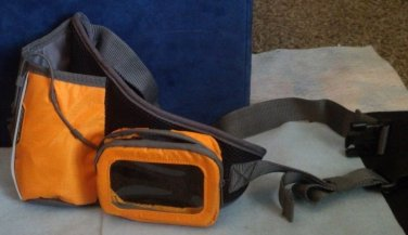 Water bottle, digital player carrying case, waist pack