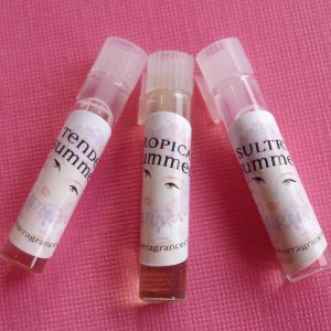 Perfume Oil TESTERS Summer SAMPLES by Four Seasons Fragrance 3 Perfume Oils VEGAN