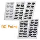 50 Pairs 5 Styles Beauty Makeup Fake False Eyelashes Eye Lash Set