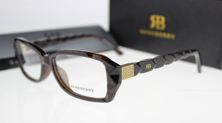 Fashion Brand Women FullRim Eyeglasses me Glasses Frame Acetate Optical Frames Eyewear BR1044 Brown