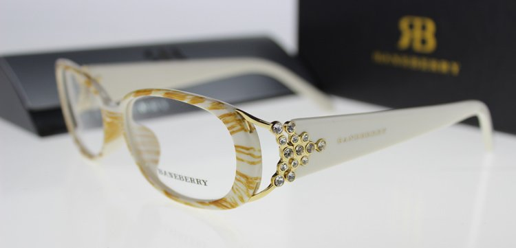 Women Full-Rim Eyeglasses Frame With Floral Glasses Frame Acetate Optical Frames