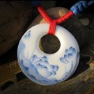chinese style ceramics pendant necklace
