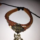 revival  four leaf clover leather bracelet