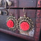 revival chinese style flower earrings