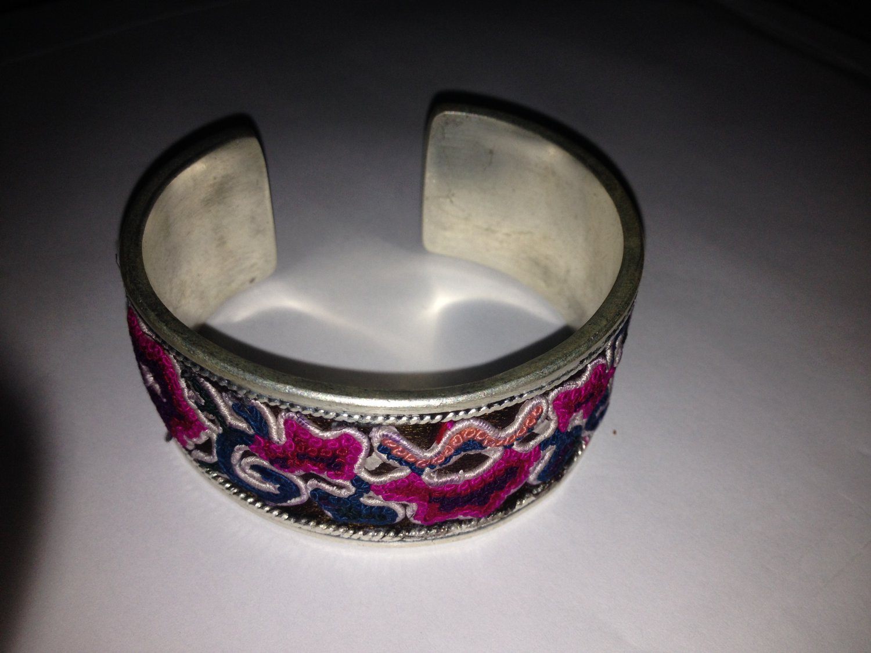 Handmade Hmong embroidery bracelet