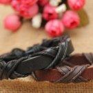 Handmade korean style black and brown lovers' bracelets