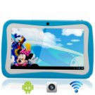 """7"""" Capacitive Touch Screen A13 Android 4.0 4G Children Kid Tablet PC with Camera Blue"""