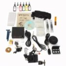 1 Gun Tattoo Machine Kit LCD Power Supply 6 Inks