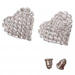 Fashion Heart-shaped Crystal Stud Earrings
