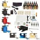 7 Guns Tattoo Machines Kit LCD Power Supply 15 Inks TM120803