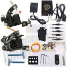 2 Guns Tattoo Machines Kit Power Gloves Practice Skin