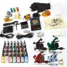 7 Gun Tattoo Machine Kit Needles Grips Tips Supplies 28 Inks TM015002