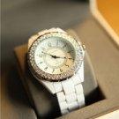 Fashion Luxury Quartz Crystal Alloy Women / Lady Wrist Watch White