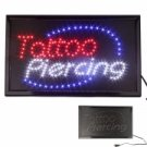 Flashing Neon Light Tattoo Piercing LED Sign
