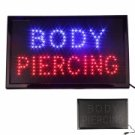 Flashing Neon Light Tattoo Body Piercing LED Sign