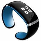 L12S OLED Bluetooth V3.0 Stylish Touch Screen Smart Bracelet Blue + Black