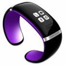L12S OLED Bluetooth V3.0 Stylish Touch Screen Smart Bracelet Purple + Black
