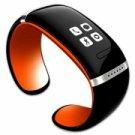L12S OLED Bluetooth V3.0 Stylish Touch Screen Smart Bracelet Orange + Black