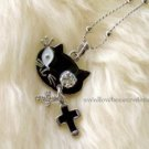 Stylish Black Cat Necklace