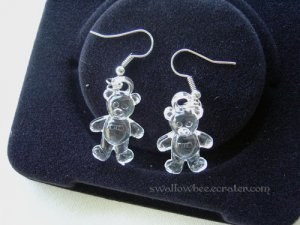Clear Little Bear Earrings