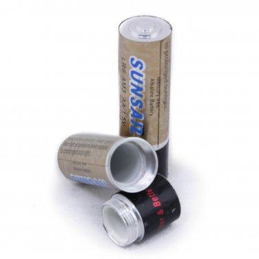 AA Battery Shape Pill Box Secret Stash Case