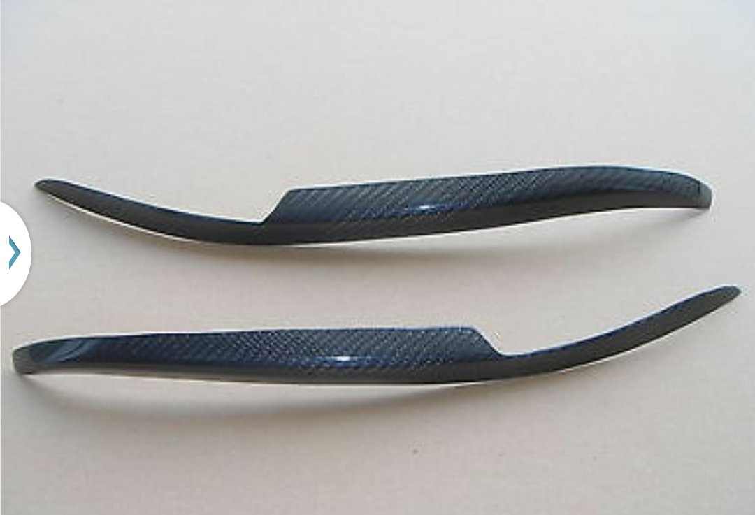 Carbon Fiber Eyelids Eyebrows Honda Civic 92-95