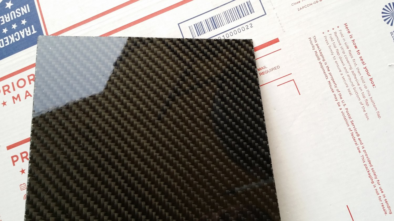 """Carbon Fiber Panel 18""""x18""""x1mm"""