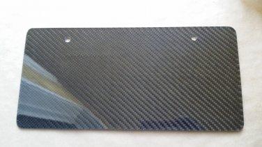 Carbon Fiber License Plate
