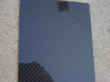 "Carbon Fiber Panel 6""x12""x1/4"" Both Sides Glossy"