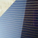 "Carbon Fiber Panel 6""x30""x3/32"" Both Sides Glossy blue"