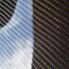 "Carbon Fiber Panel 6""x12""x1/8"" Both Sides Glossy blue"