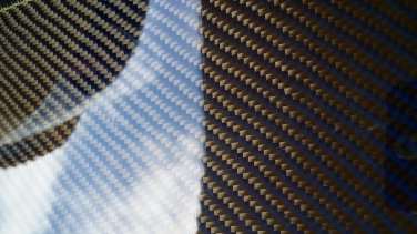 "Carbon Fiber Panel 18""x18""x1/4"" Both Sides Glossy blue"