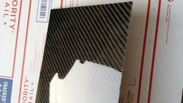 "Real Carbon Fiber Fiberglass Panel Sheet Board Plate 6""�12""�1/32"" Glossy One Side"